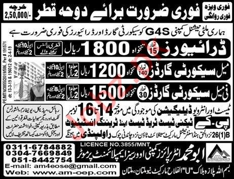 Security Guards & Drivers Jobs 2019 in Doha Qatar