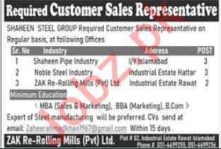 Customer Sales Representative Jobs in Islamabad