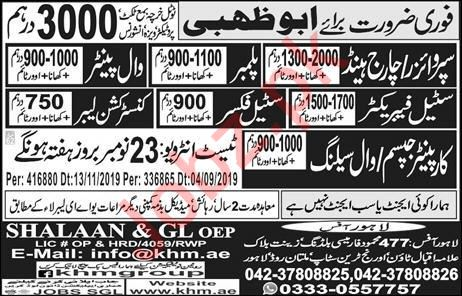 Chargehand Supervisor Wall Painter Jobs in Abu Dhabi