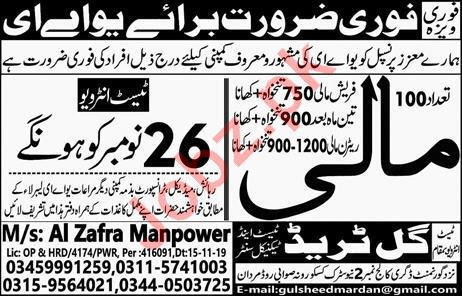 Agriculture Labour Jobs in UAE
