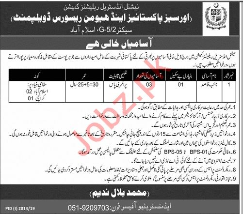 National Industrial Relations Commission Jobs For Naib Qasid