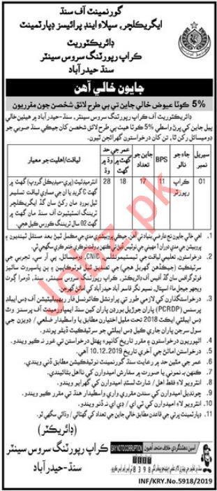Agriculture Supply & Prices Department Jobs For Hyderabad