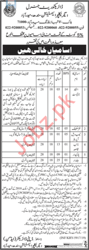 Agriculture Extension Jobs 2019 in Hyderabad