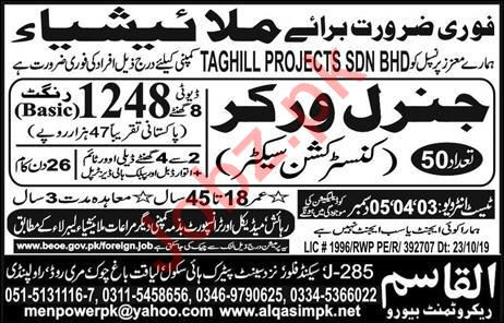 Construction Worker Jobs 2019 in Malaysia