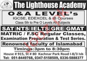 The Lighthouse Academy Islamabad Jobs