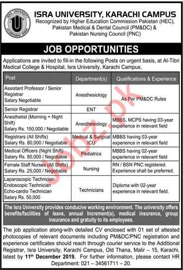 Al Tibri Medical College & Hospital Jobs in Karachi Campus