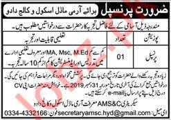 Pakistan Army Model School & College Job 2019 For Principal