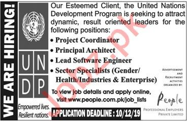 UNDP United Nations Development Programme KPK Jobs 2019