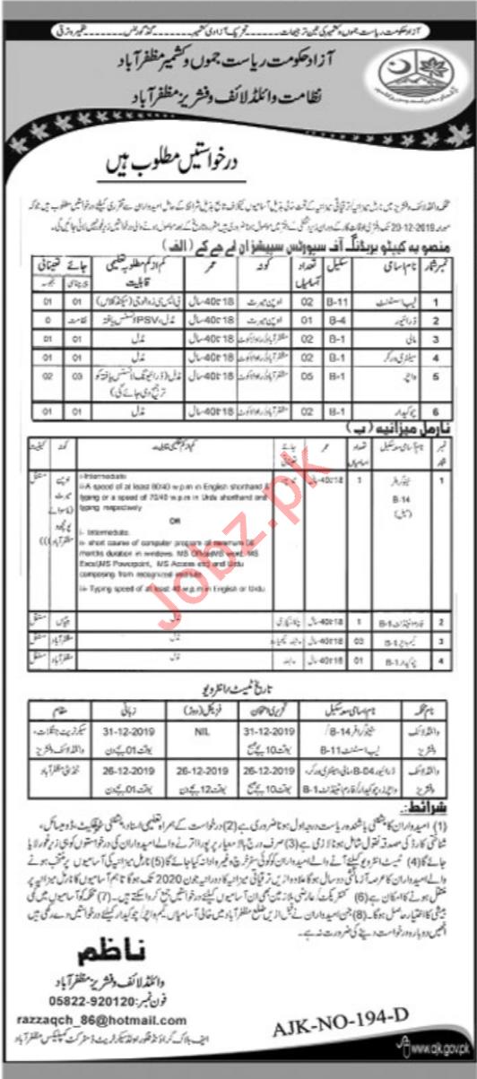 Forest Wildlife & Fisheries Department Jobs For Muzaffarabad