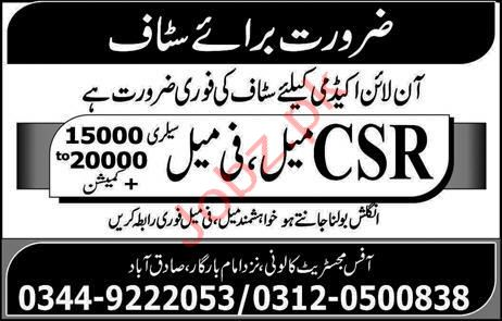 Online Academy Jobs in Rawalpindi
