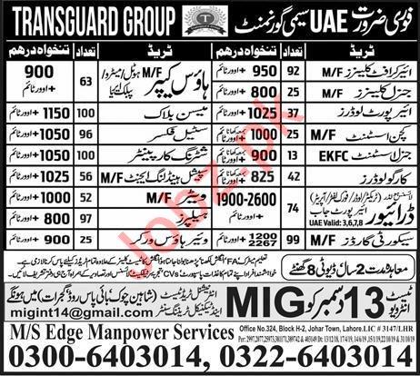 Transguard Group Jobs 2019 in UAE