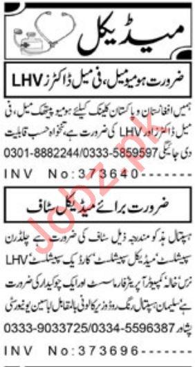 Medical Staff Jobs 2020 in Peshawar
