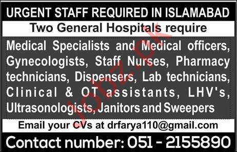 General Hospitals Jobs 2020 in Islamabad