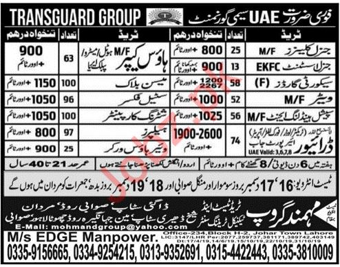 Technical Staff Jobs in Transguard Group UAE
