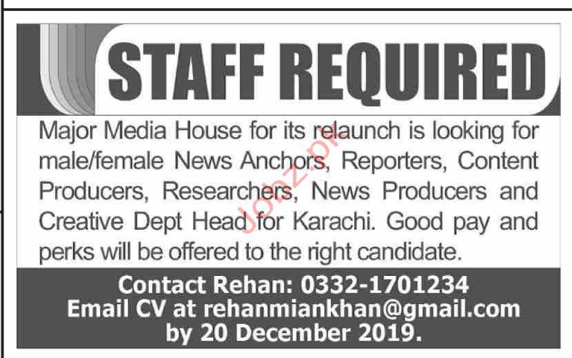 Media House Karachi Jobs