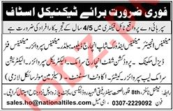 Technical Staff Jobs 2020 For Tile Factory in Karachi