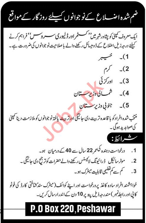 Public Sector Organization Custom Delivery Service Jobs 2020