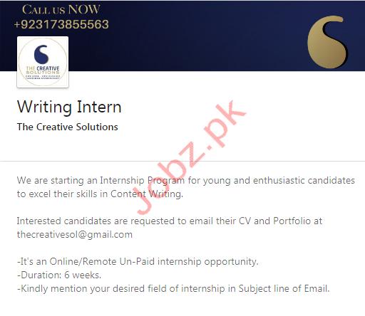 Writing Intern & Social Media Marketing Intern Jobs 2020