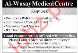 Al Wasay Medical & Diagnostic Center Jobs 2020