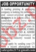 Graphic Designers Jobs 2020 in Lahore Office