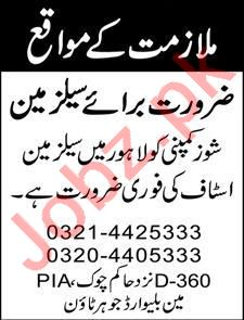 Salesman Jobs 2020 in Lahore