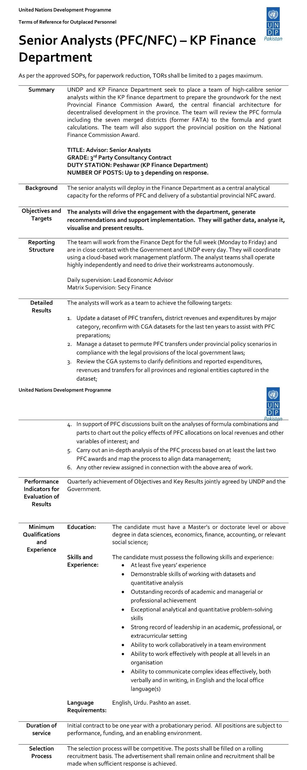 United Nations Development Programme UNDP NGO Job 2020