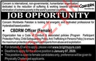 Concern Worldwide NGO Job 2020 For CBDRM Officer