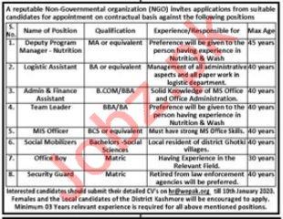 Women Empowerment of Pakistan NGO Jobs 2020