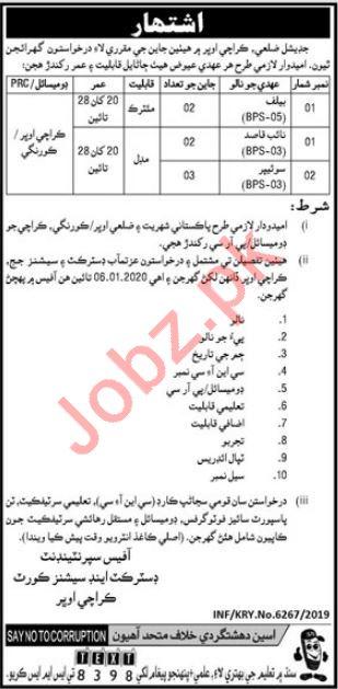 District & Session Court Jobs 2020 in Karachi