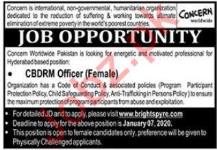 Concern Worldwide NGO Job 2020 in Hyderabad
