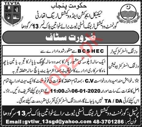 Technical Education & Vocational Training Authority Jobs