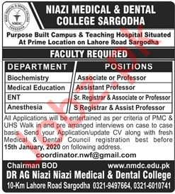 Niazi Medical & Dental College Associate Professor Jobs 2020