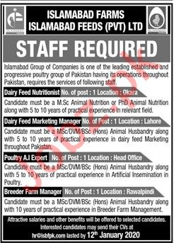 Islamabad Feeds Private Limited Jobs 2020
