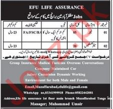 EFU Life Assurance Limited Jobs 2020 in Muzaffarabad AJK