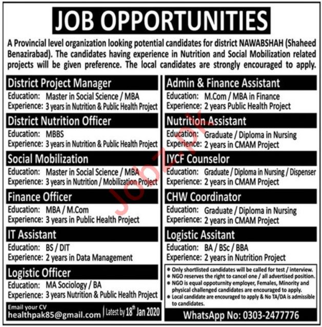 Management Staff Jobs in Private Company