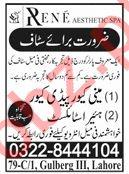 Rene Aesthetic Spa Beauty Salon Jobs 2020 in Lahore