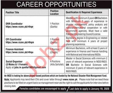 Management Jobs in International NGO