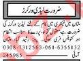 Factory Workers & Helpers Jobs 2020 in Multan