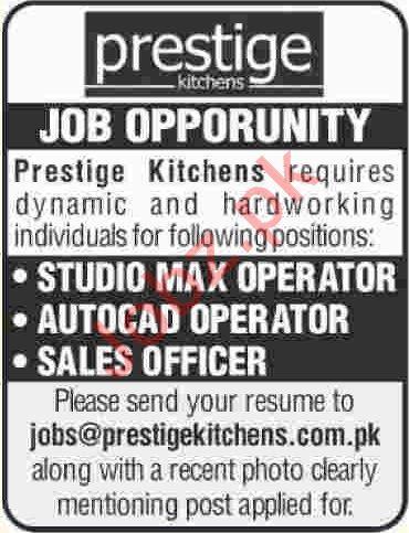 Prestige Kitchens Jobs 2020 in Karachi