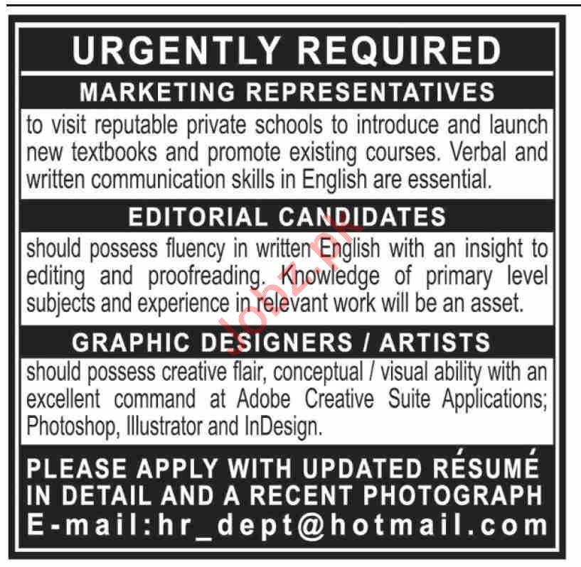 Management Staff Jobs 2020 in Karachi