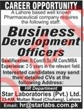 Business Development Officer Jobs in Pharmaceutical Company