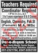 Dar e Arqam School Bhara Kahu Islamabad Jobs 2020