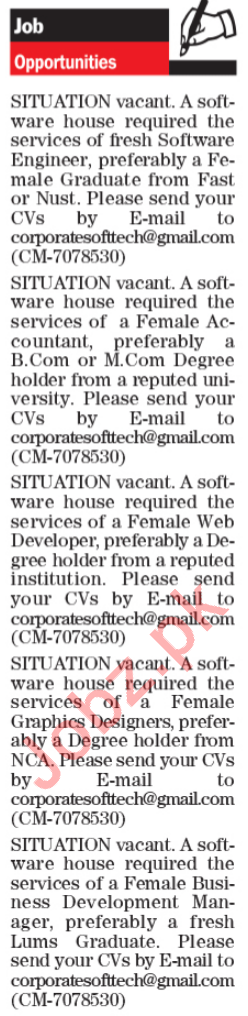 Software House Jobs 2020 in Lahore