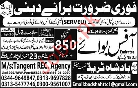 Serveu Semi Government Company Job 2020 in Dubai UAE