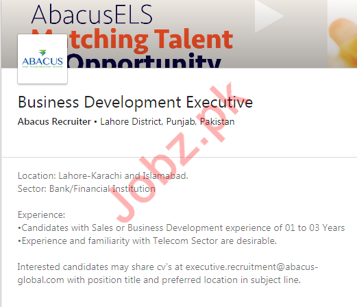 Business Development Executive Job 2020