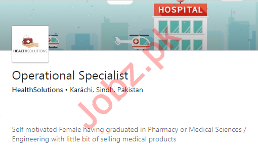 Operational Specialist Job 2020 in Karachi