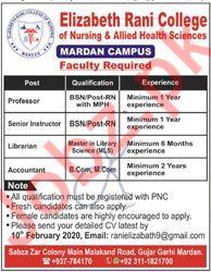 Elizabeth Rani College of Nursing & Allied Health Jobs 2020