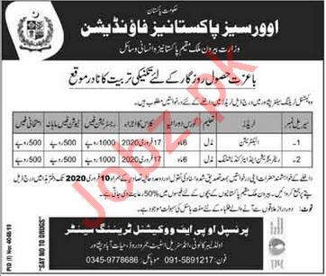 Overseas Pakistanis Foundation OPF Internship Jobs