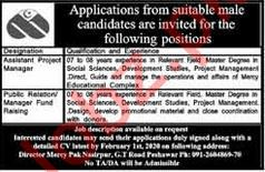 Mercy Corps Pakistan NGO Jobs 2020 in Peshawar KPK