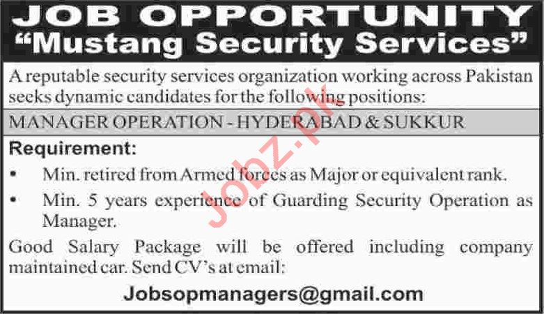Manager Operation Jobs 2020 in Sindh